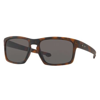 Oakley Sliver Gray - Matte Brown Tortoise solbriller Herre Brun