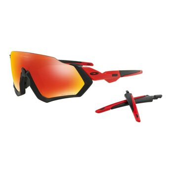 Oakley Flight Jacket Prizm™ Ruby Polarized - Matte Black Redline sportsbriller Herre Rød