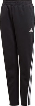 adidas 3-Stripes Doubleknit Tapered Leg joggebukse junior Svart
