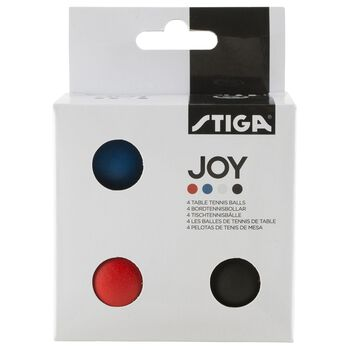 Stiga Joy bordtennisball 4-pk. Svart