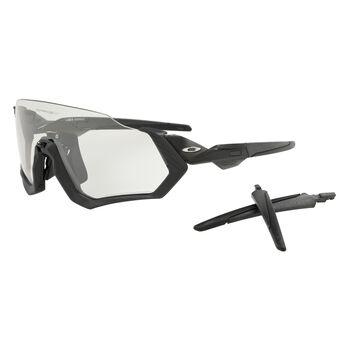 Oakley Flight Jacket Clear To Black Photocromic - Steel Grey Ink sportsbriller Herre Svart