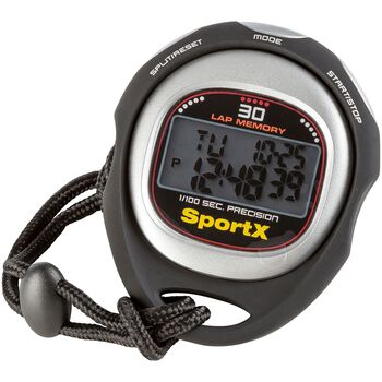 SportX  Pro stoppeklokke Svart