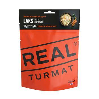 REAL turmat Laks med pasta og fløtesaus 500 gram Rød