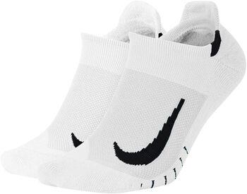 Nike Multiplier Running No-Show sokker 2-pck Hvit