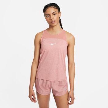 Nike Miler Run Division treningssinglet dame Rosa