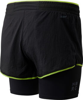 Q Speed Breathe 2 i 1 løpeshorts dame