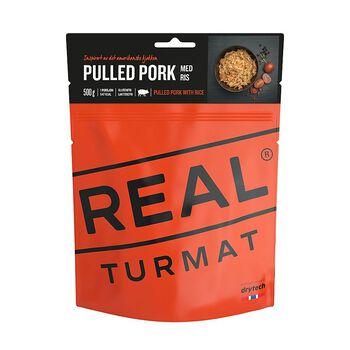 REAL turmat Pulled pork med ris 500 gram Brun