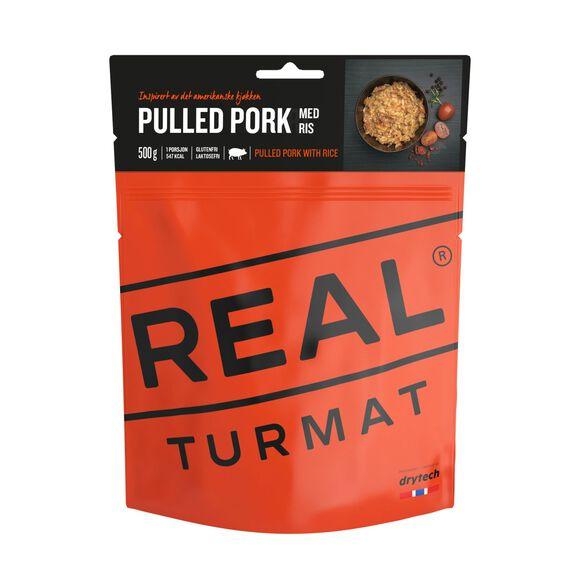 Pulled pork med ris 500 gram
