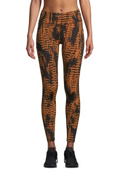 Casall Iconic Printed 7/8 tights dame Brun