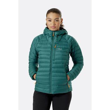 Rab Microlight Alpine dunjakke dame Grønn
