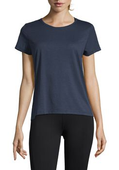 Casall Texture Tee teknisk t-skjorte dame Blå