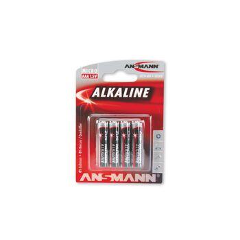 ANSMANN Redline AAA batterier 4-pk Rød