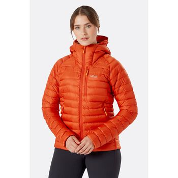 Rab Microlight Alpine tynn dunjakke dame Oransje