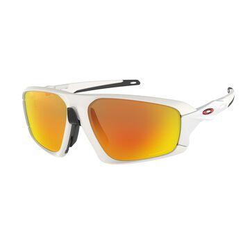 Oakley Field Jacket Prizm™ Ruby - Matte White sportsbriller Herre Flerfarvet