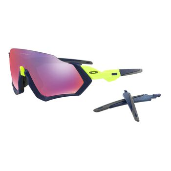 Oakley Flight Jacket Prizm™ Road - Navy Retina Burn sportsbriller Herre Flerfarvet
