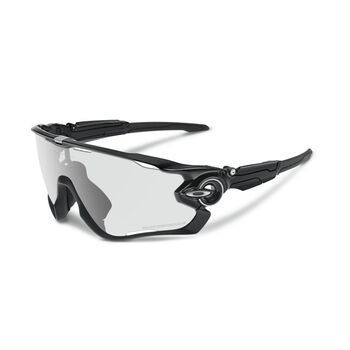Oakley Jawbreaker Clear To Black Photocromic - Polished Black sportsbriller Herre Flerfarvet