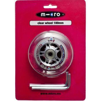 100 mm bakhjul til Micro Sprite sparkesykkel Gjennomsiktig