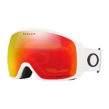 Oakley Flight Tracker XL Matte White, Prizm Snow Torch Iridium alpinbriller Herre Hvit