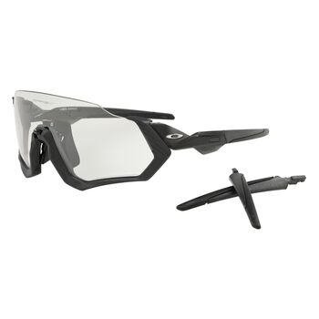 Oakley Flight Jacket Clear To Black Photocromic - Steel Grey Ink sportsbriller Herre Svart