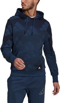 adidas Sportswear Allover Print hettegenser herre Blå