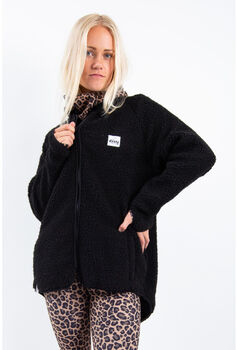 Eivy Redwood Sherpa fleecejakke dame Svart