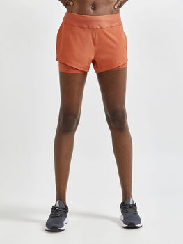 Craft ADV Essence 2-in-1 shorts dame Rød