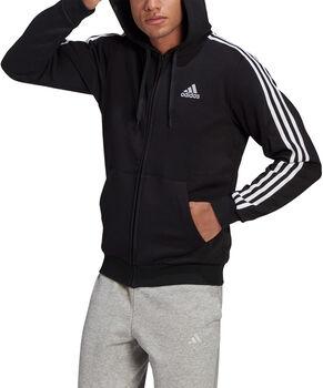 adidas Essentials Fleece 3-Stripes hettejakke herre Svart