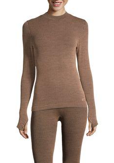 Wool Rib Long Sleeve ulltrøye dame
