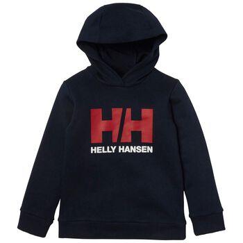 Helly Hansen HH Logo hettegenser barn Blå