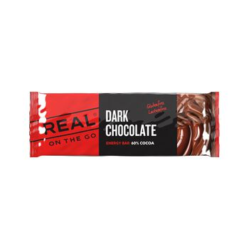 REAL turmat OTG sjokolade energibar 50 gram Rød