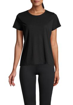 Casall Texture Tee teknisk t-skjorte dame Svart