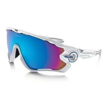 Oakley Jawbreaker Prizm™ Sapphire - Polished White sportsbriller Herre Hvit