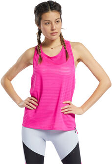Perforated Tank teknisk singlet dame