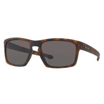Oakley Sliver Gray - Matte Brown Tortoise solbriller Herre Flerfarvet