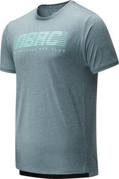 New Balance Printet Impact Run teknisk t-skjorte herre Grå