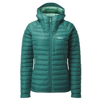 Rab Microlight Alpine tynn dunjakke dame Grønn