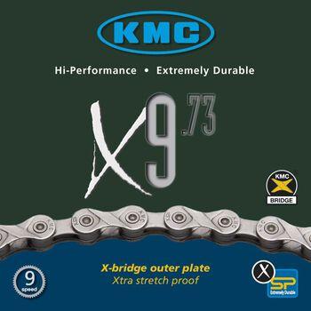 KMC X9 9-delt sykkelkjede Svart