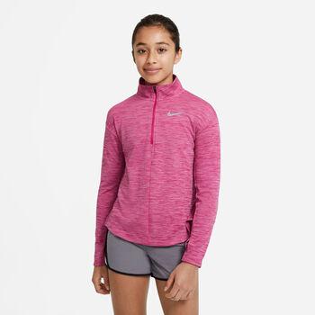 Nike NK Run LS HZ Top treningsgenser junior Gutt Rosa