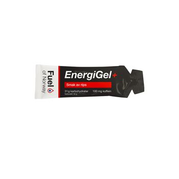 Fuel of Norway Energigel+ rips koffein Rød