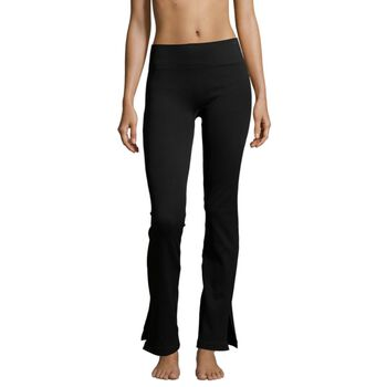 Casall Seamless Rib Slit Pants tights dame Svart
