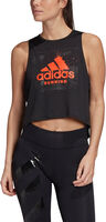 Fast Graphic Crop singlet dame