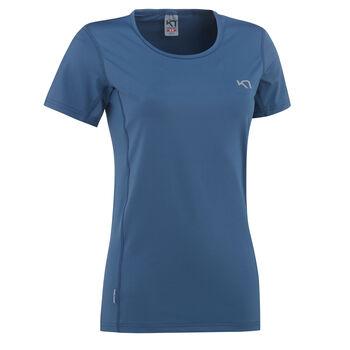 KARI TRAA Nora teknisk t-skjorte dame Blå
