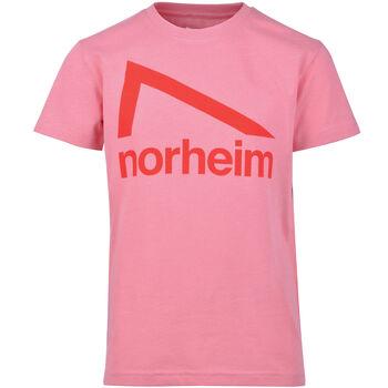 Norheim Granitt Logo t-skjorte junior Rosa