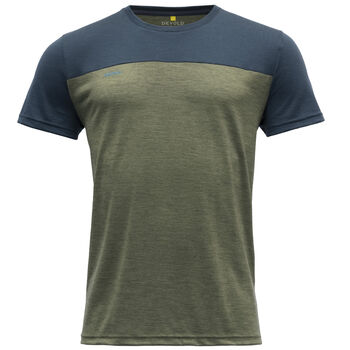 Devold Norang ull-t-skjorte herre Flerfarvet