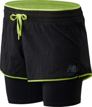 New Balance Q Speed Breathe 2 i 1 løpeshorts dame Svart