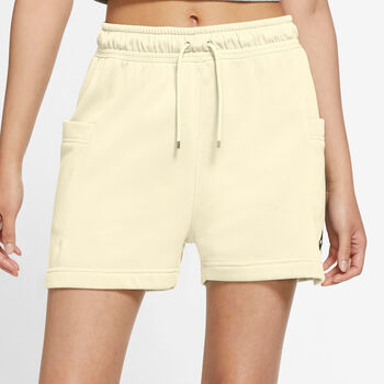 Nike Air Fleece shorts dame Gul