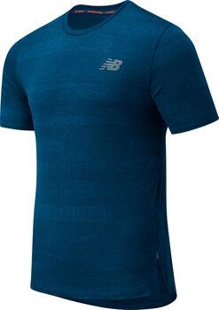 New Balance Q Speed Fuel Jacquard teknisk t-skjorte herre Blå