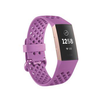 Fitbit Charge 3 pulsklokke Lilla