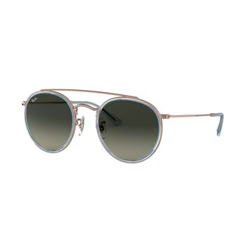 Ray-Ban Round Double Bridge solbriller Herre Svart