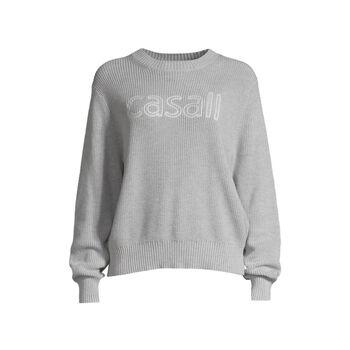 Casall Knitted logo sweater genser dame Grå